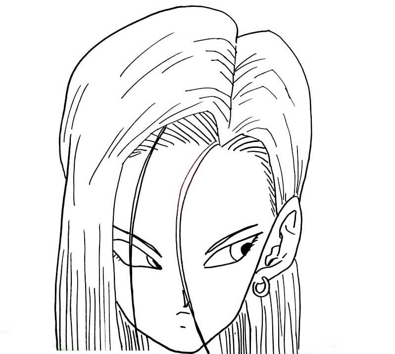 face of android 18