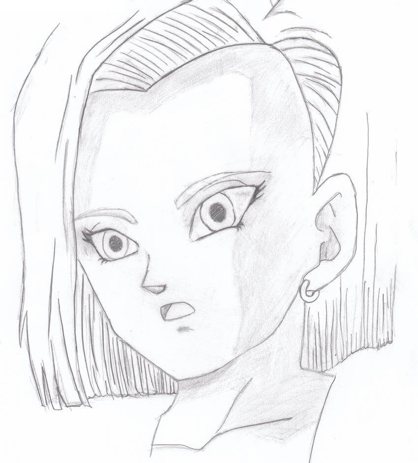 hand drawing android 18