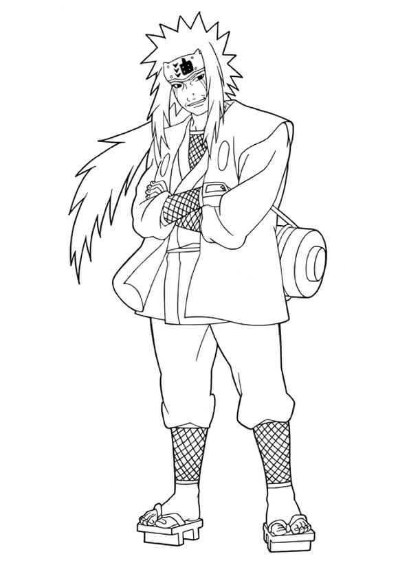 Printable Jiraiya Coloring Pages