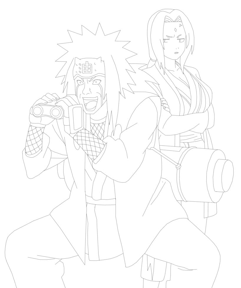 jiraiya with tsunade