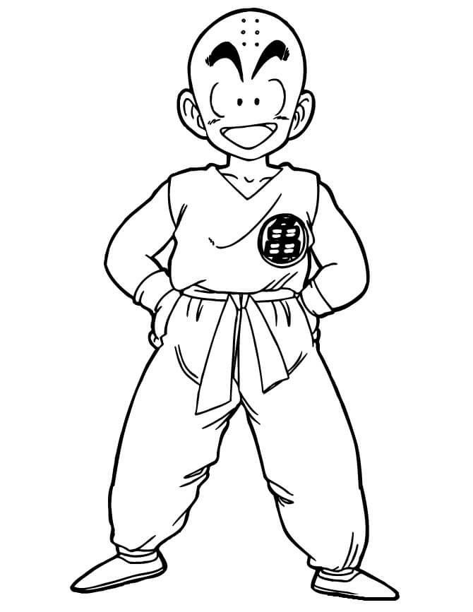 krillin is smiling