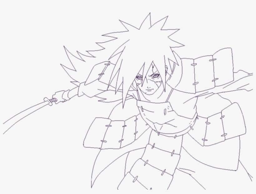 madara holding sword