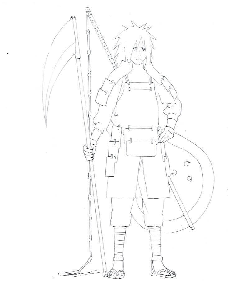 madara with weapons