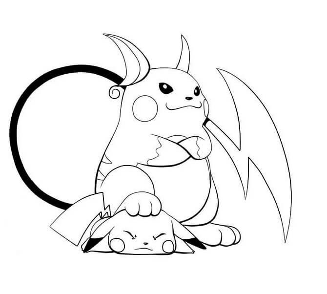 raichu and pikachu