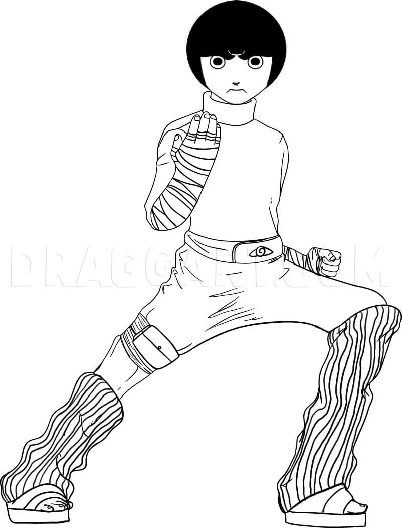 rock lee looks awesome