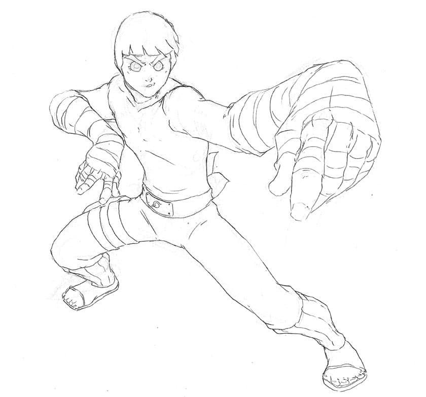 rock lee's taijutsu
