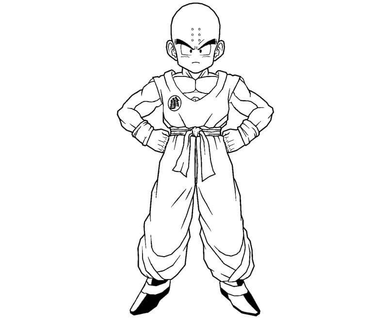 Printable Krillin Coloring Pages