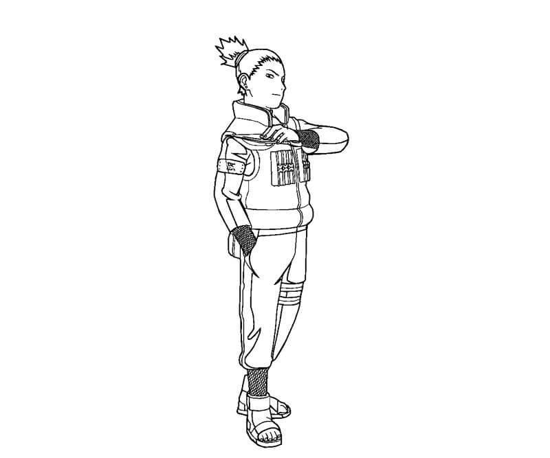 shikamaru holding kunai