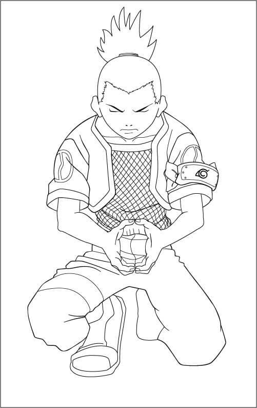 shikamaru is using ninjutsu