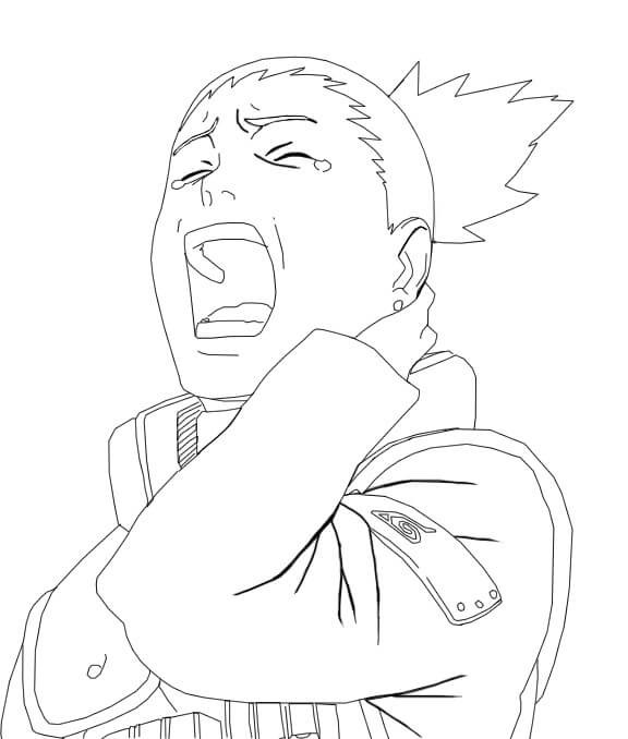shikamaru is yawning