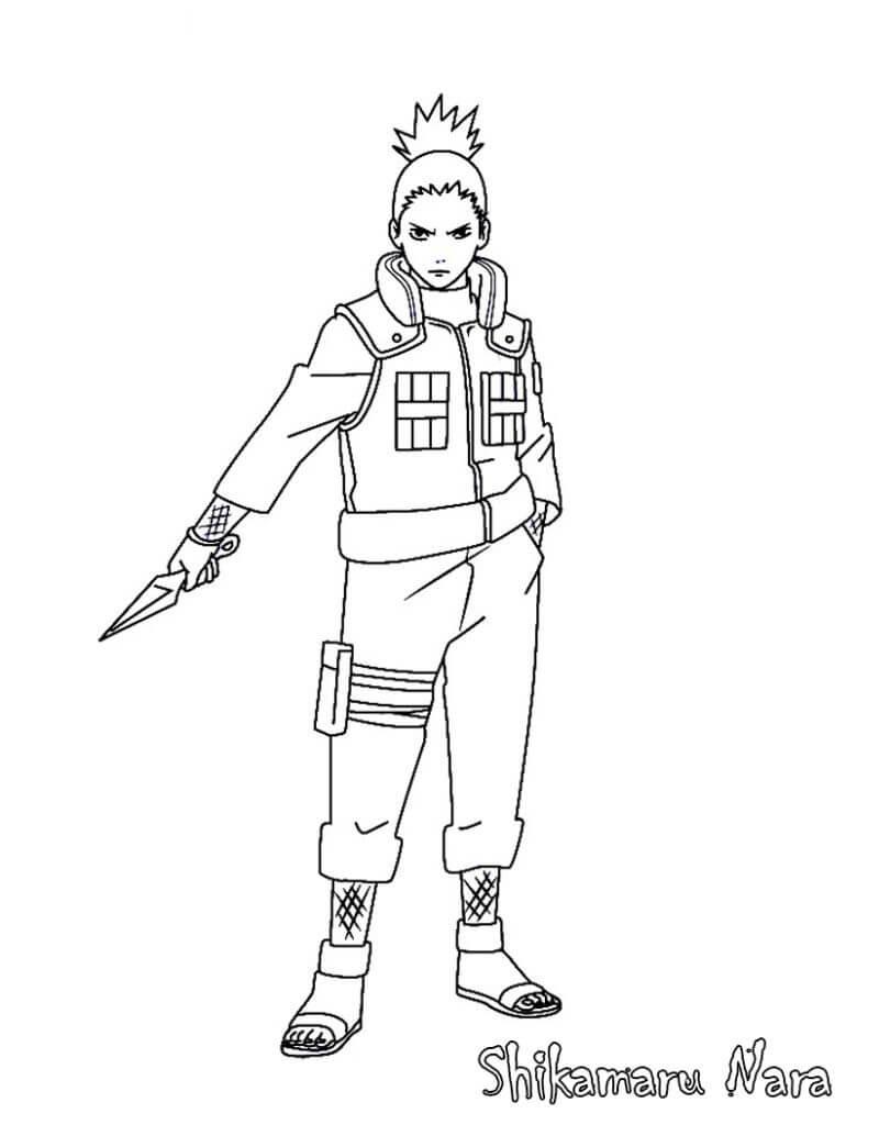 shikamaru using kunai