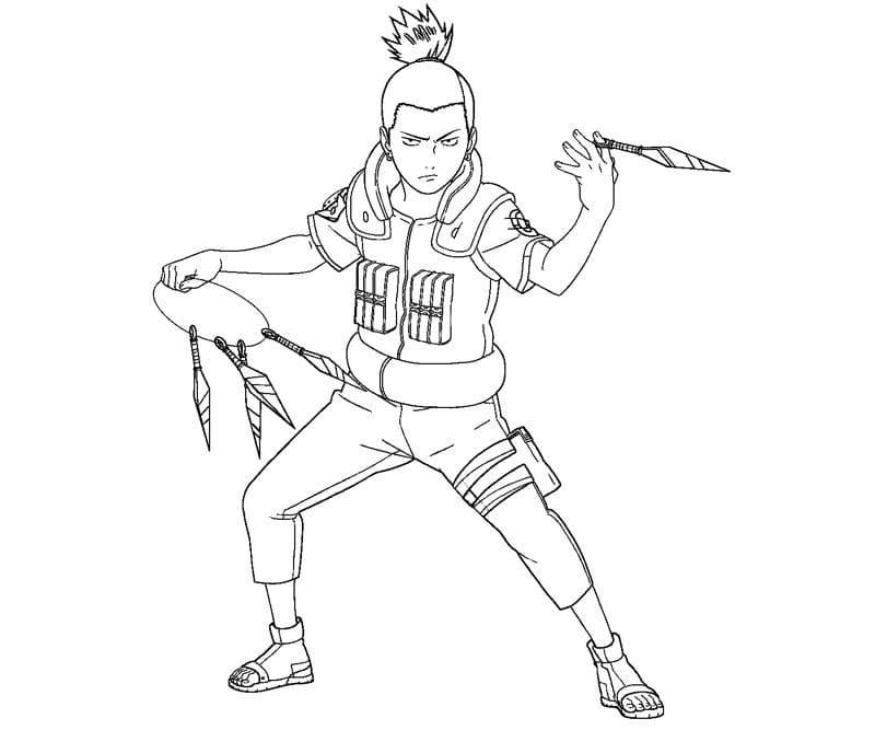 shikamaru with kunai