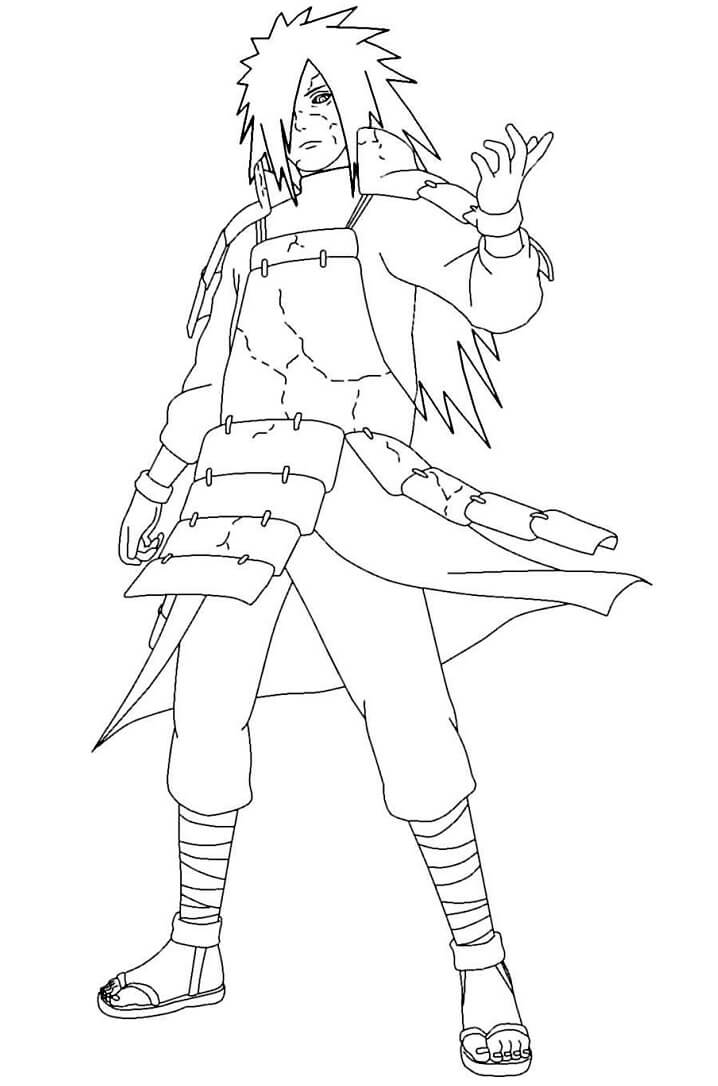 Printable Uchiha Madara Coloring Pages