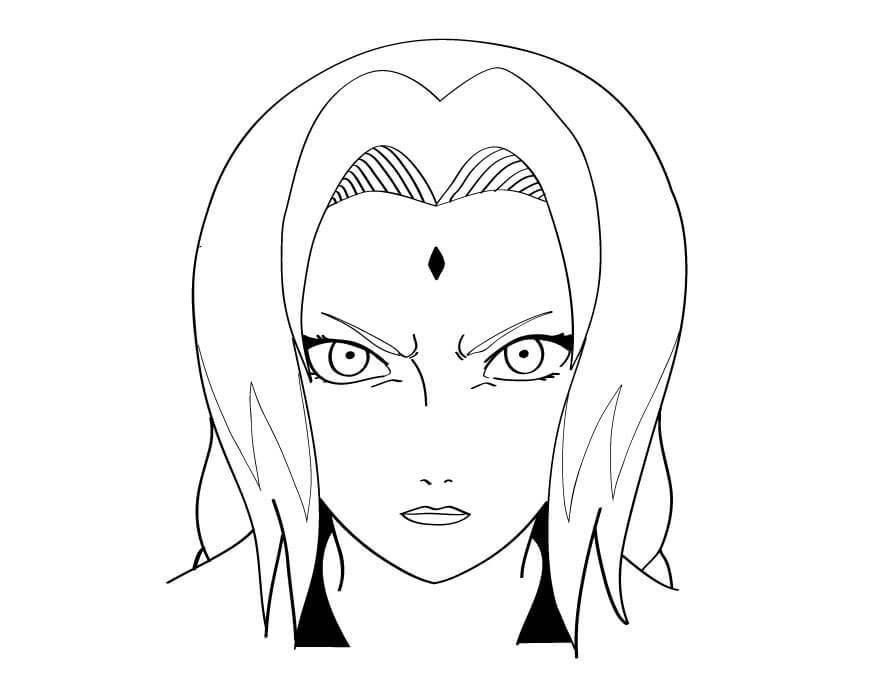 tsunade's angry face