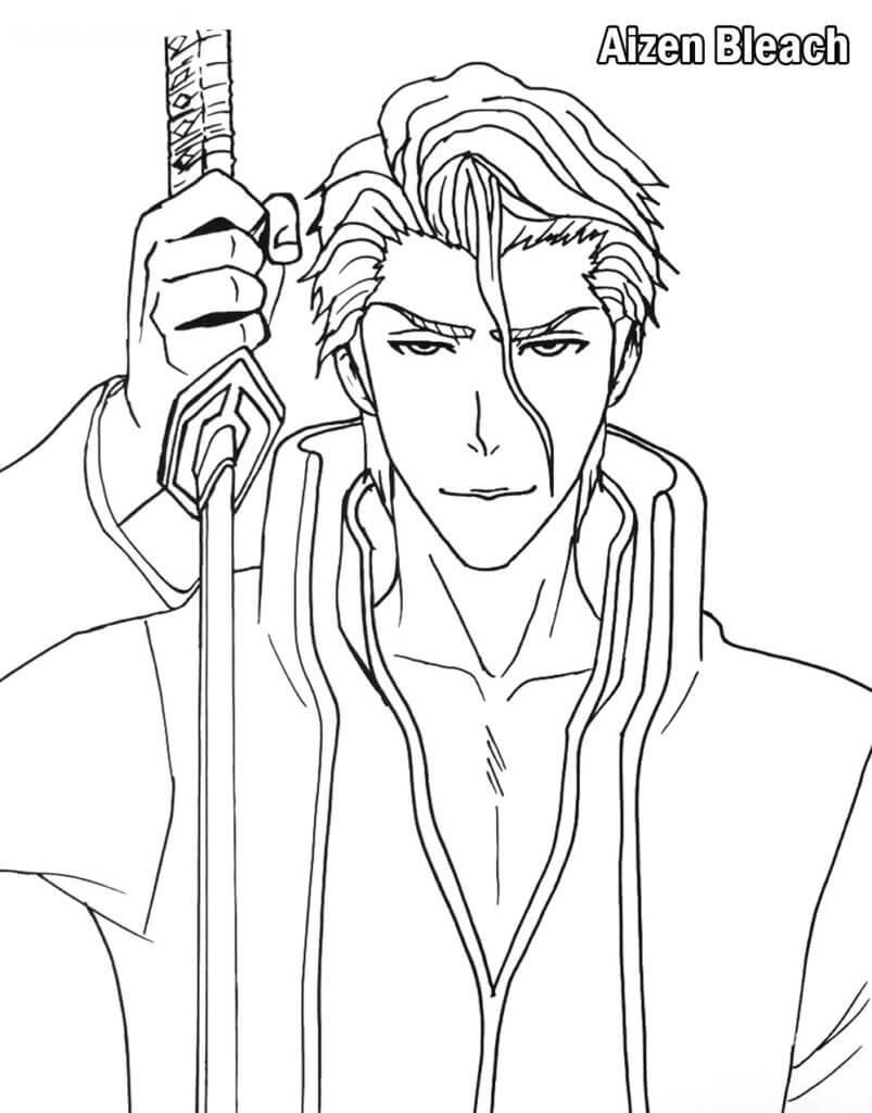 aizen with sword