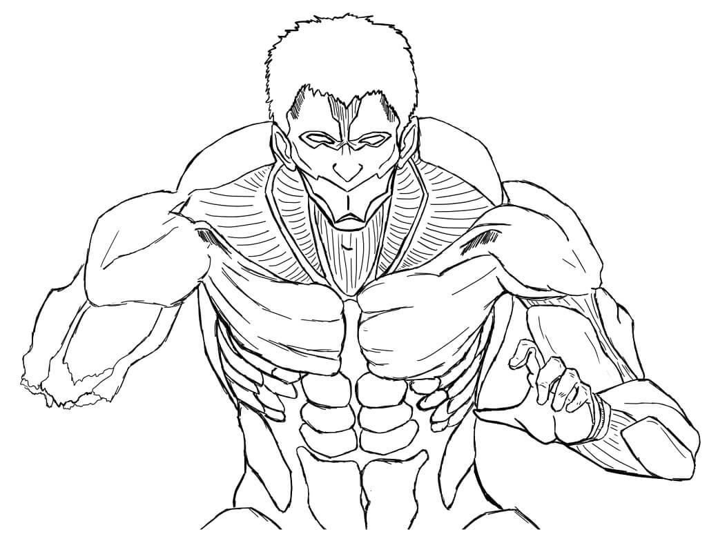 Printable Armored Titan Coloring Pages