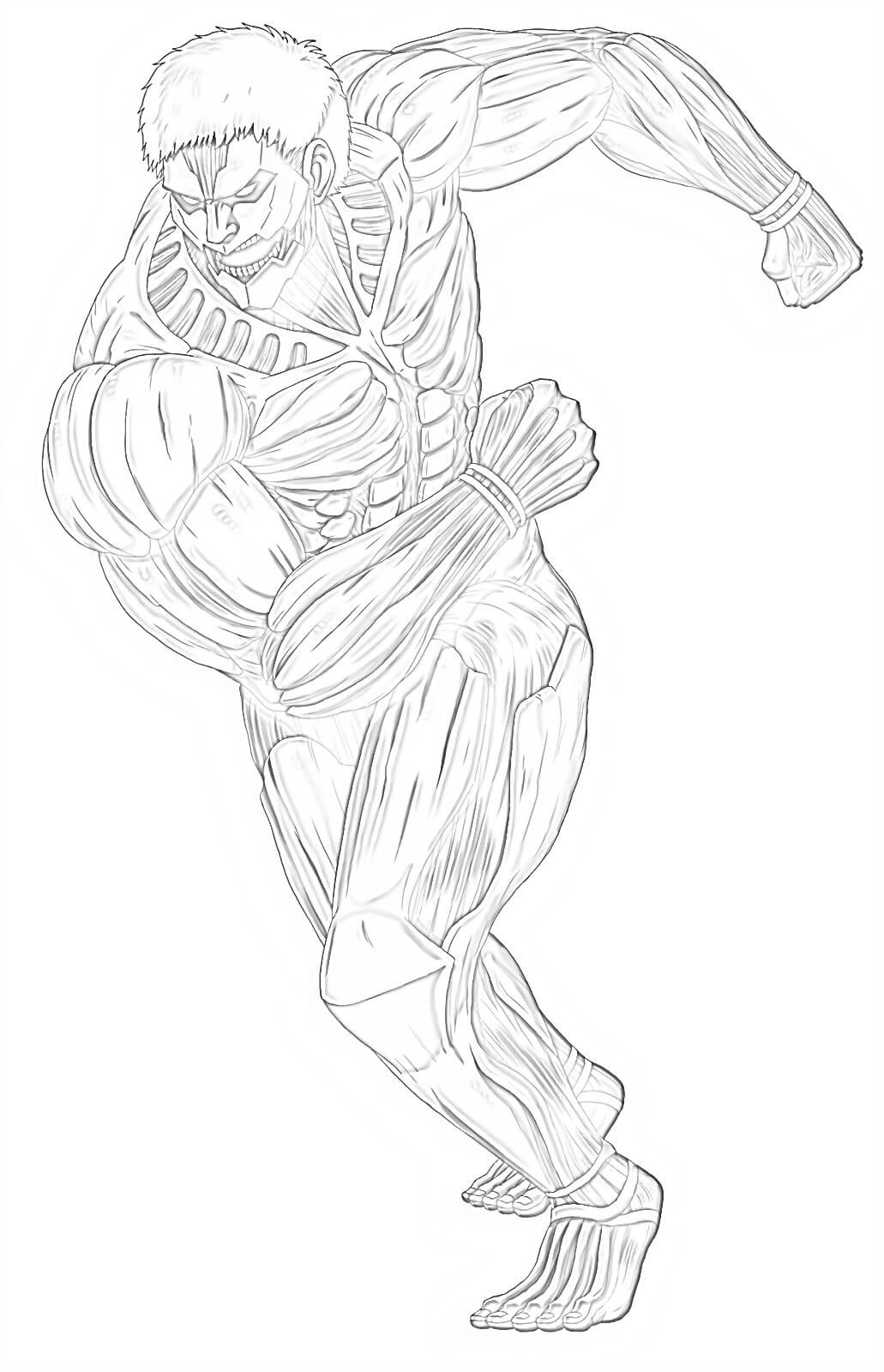 armored titan running