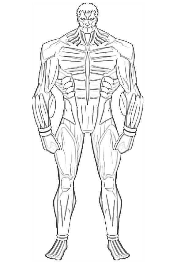 armored titan standing