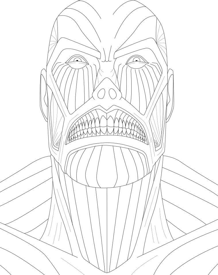 colossus titan face