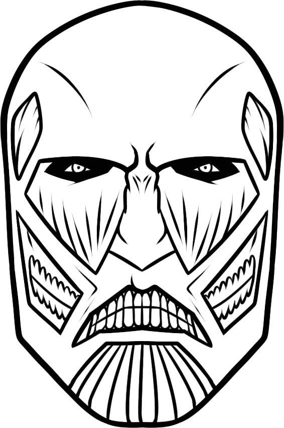colossus titan's face