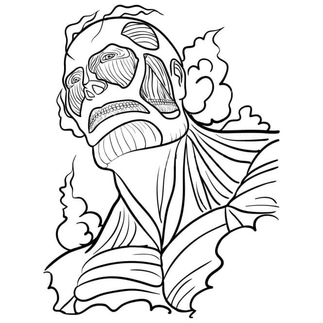 Printable Colossal Titan Coloring Pages