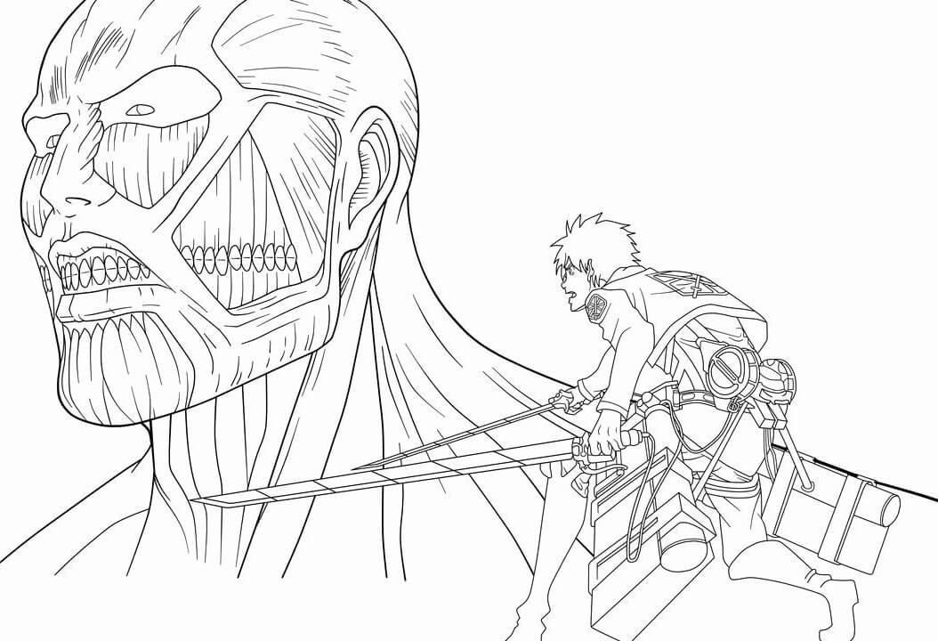 eren vs colossus titan