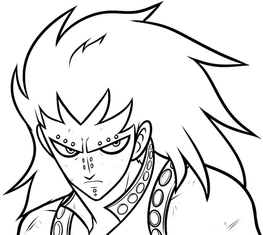 Printable Gajeel Redfox Coloring Pages