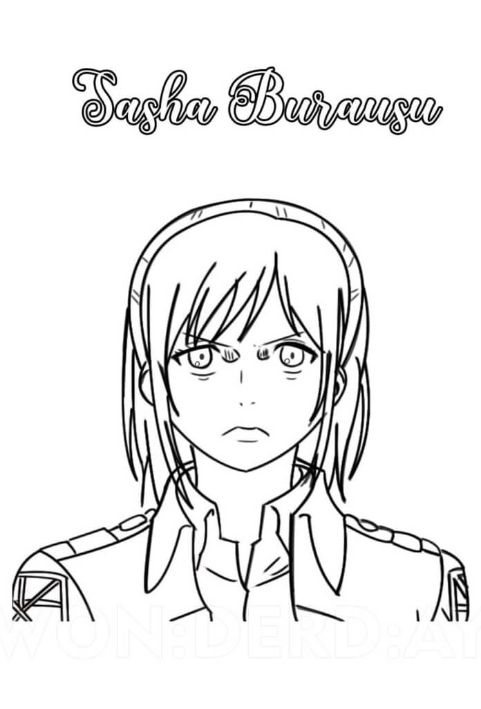 sasha blouse from attck on titan coloring page