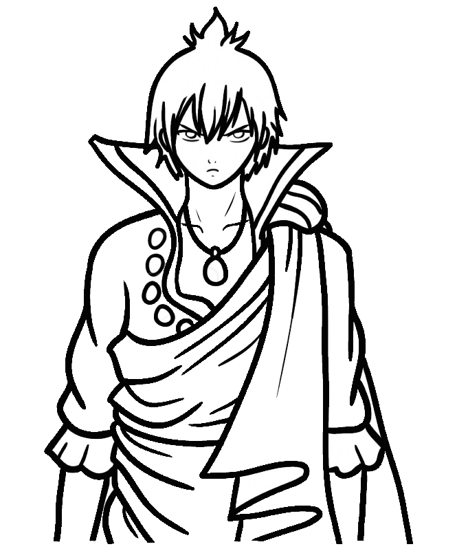 Printable Zeref Dragneel Coloring Pages