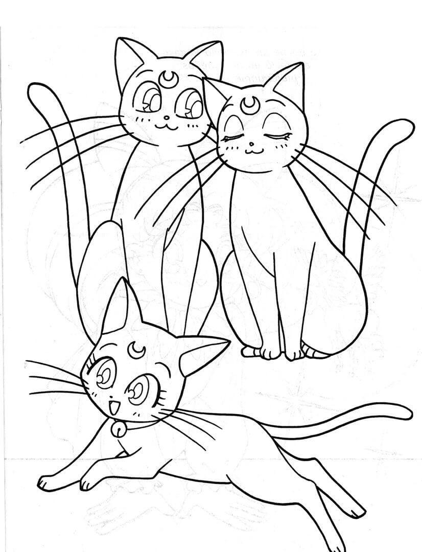 cats sailor moon
