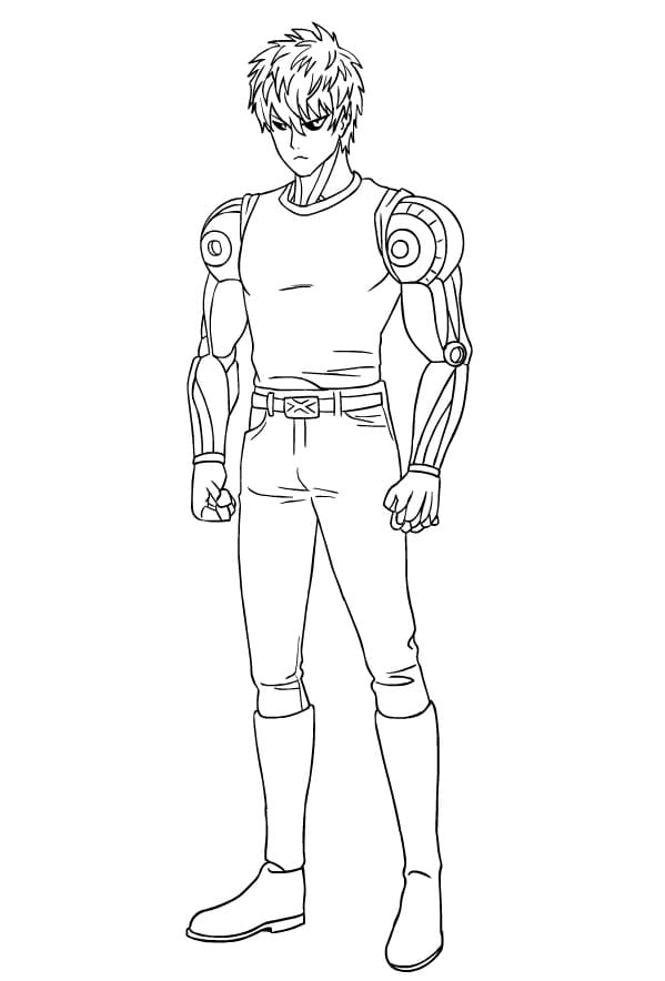 Printable Genos Coloring Pages