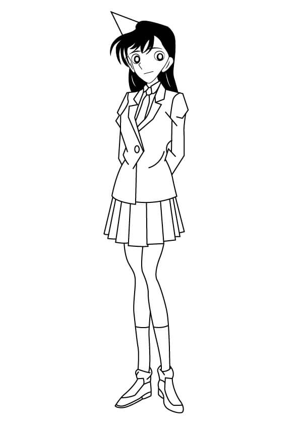 Printable Mouri Ran Coloring Pages