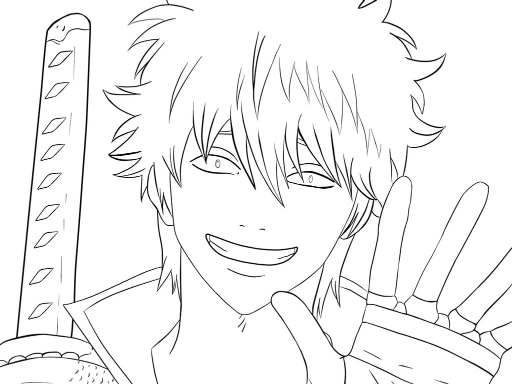 gintoki smiling