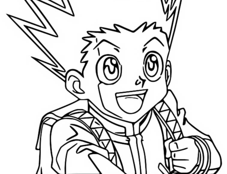 gon freecss is smiling