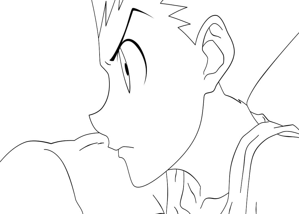 gon is looking