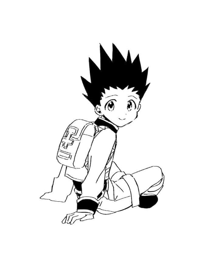 gon is smiling