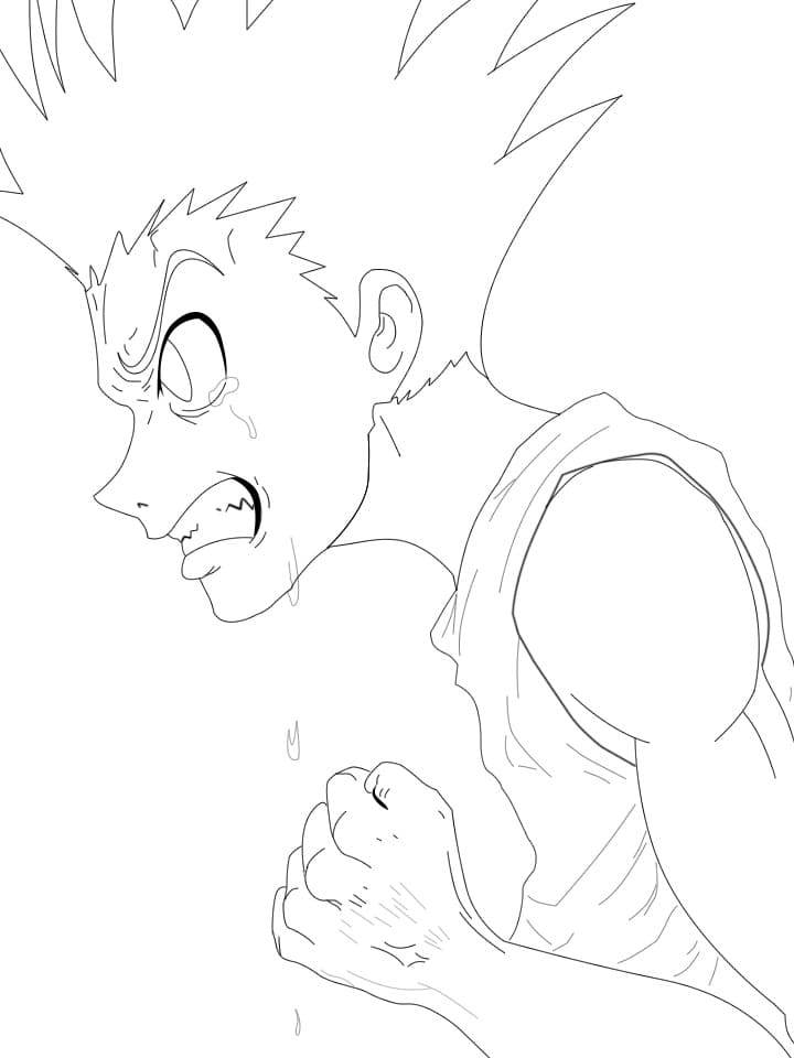 gon is very angry