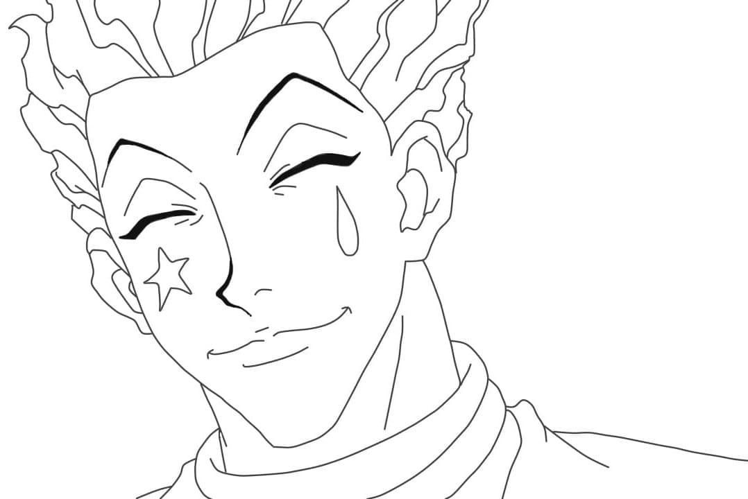 hisoka smiling