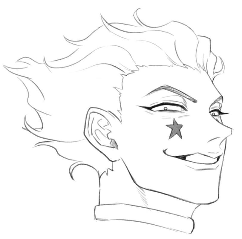hisoka with evil smile