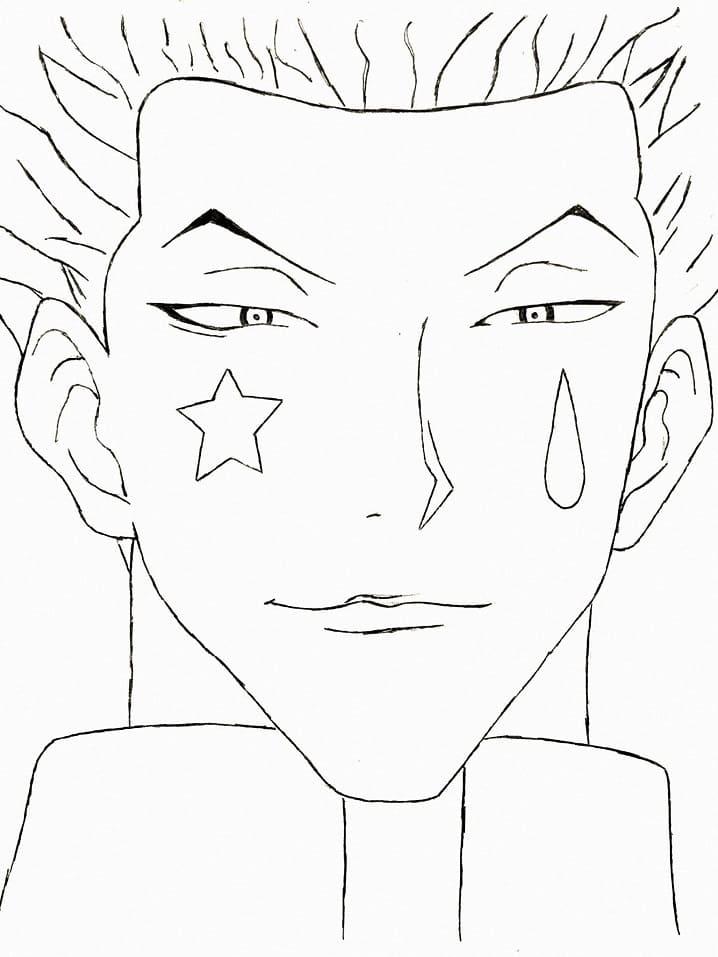 hisoka's face