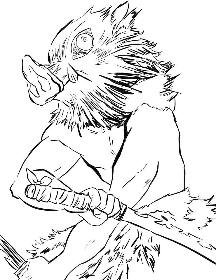 inosuke ready to fight