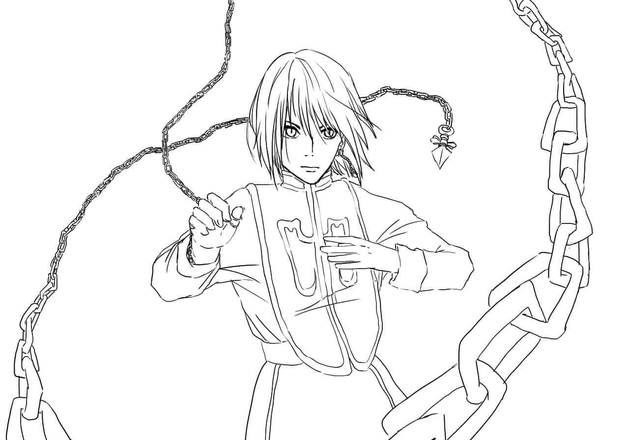 kurapika with powerful chains