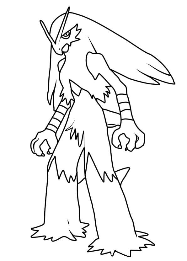 Printable Blaziken Coloring Pages