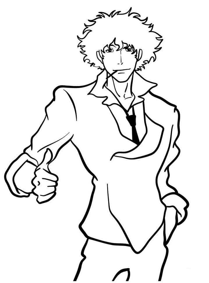 Printable Spike Spiegel Coloring Pages