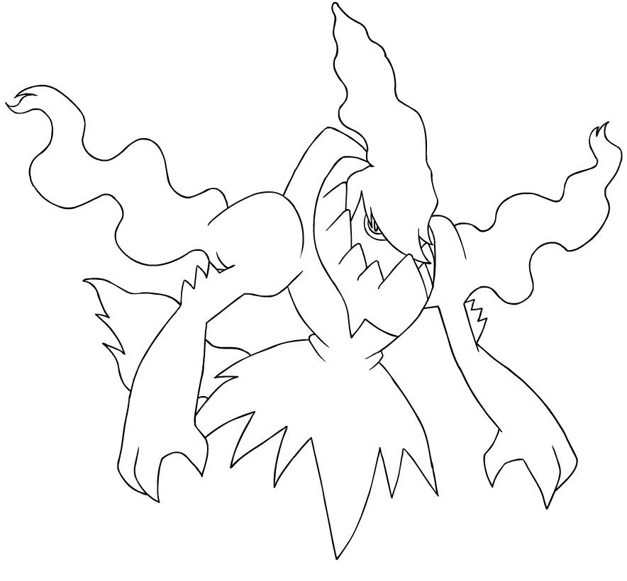 Darkrai 1 coloring page