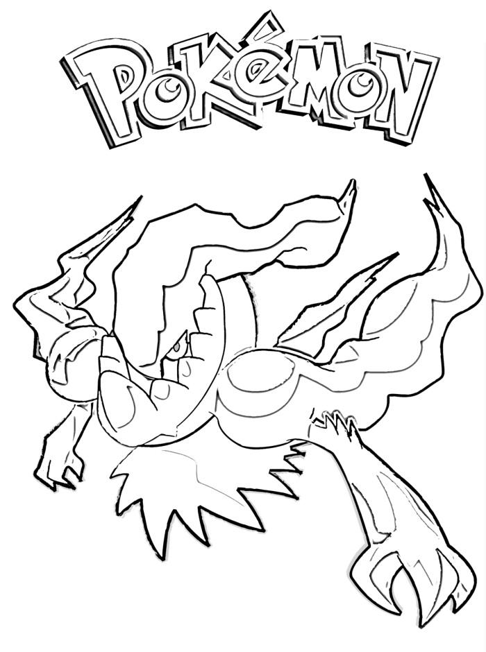 Darkrai 3 coloring page