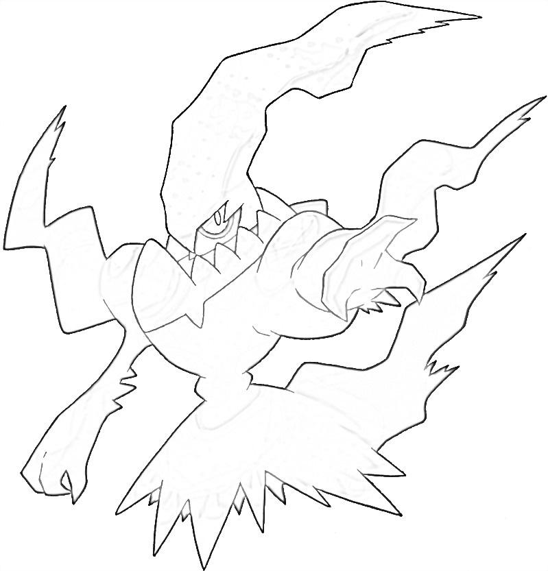 Darkrai 4 coloring page