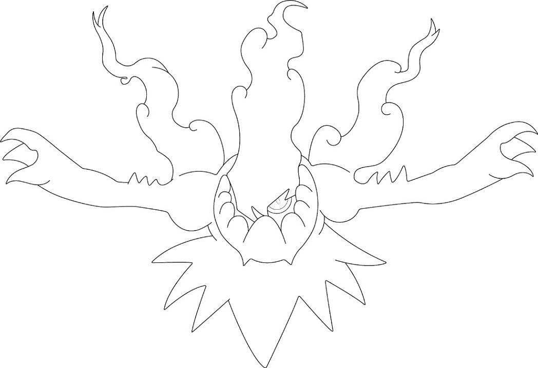 Lord of the Dark Darkrai coloring page