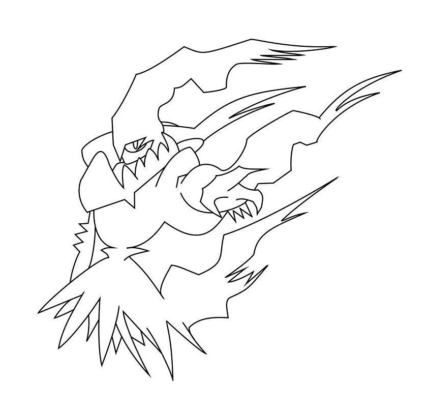 Pokemon Darkrai 1 coloring page