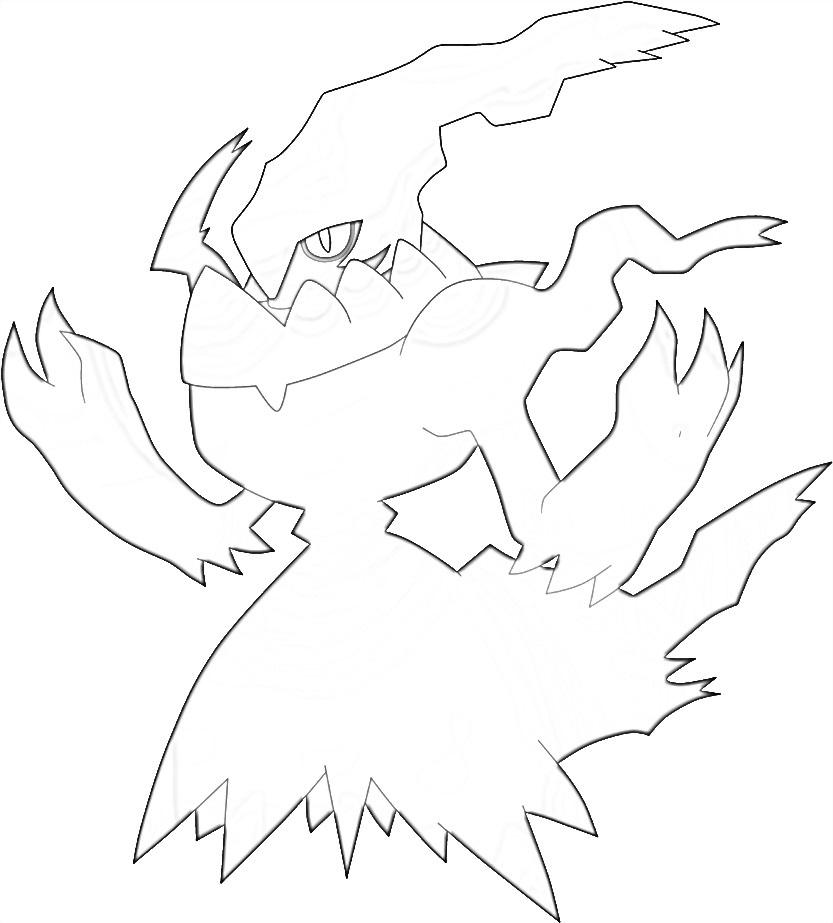 Pokemon Darkrai 2 coloring page
